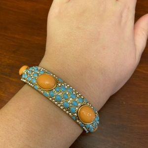 Stella & Dot Coral and Turquoise Bracelet